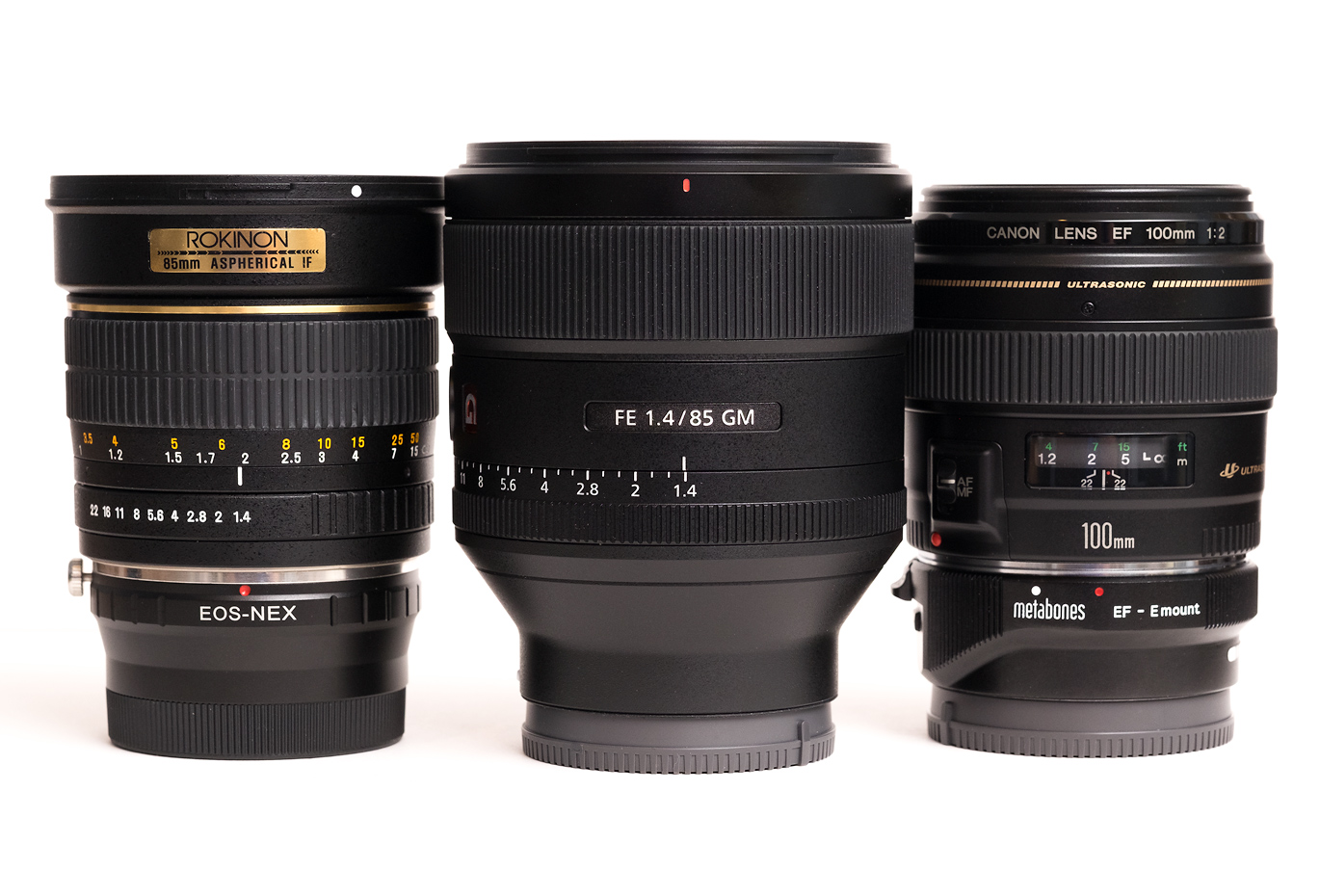Sony 85mm F 1 4 Gm Vs Rokinon 85mm F 1 4 Vs Canon 100mm