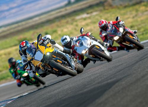 Aprilia RSV4 RR vs. Ducati 959 Panigale vs. Kawasaki ZX-10R vs. Yamaha YZF-R1 – COMPARISON TEST