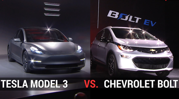 Affordable EV Showdown – Tesla Model 3 Vs. Chevrolet Bolt