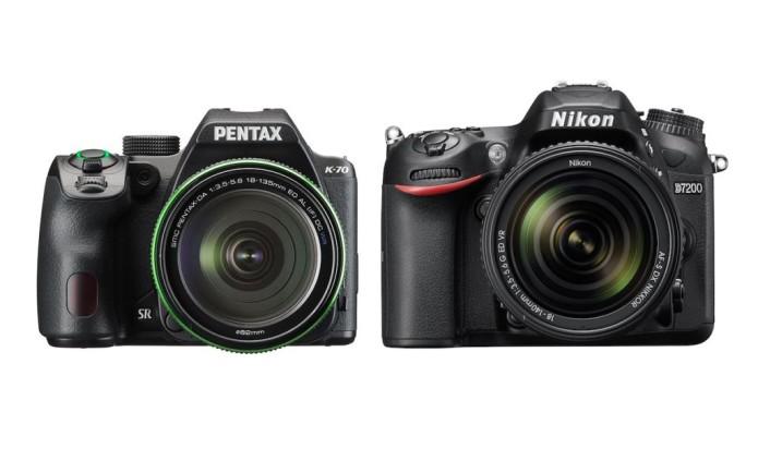 Pentax K-70 vs Nikon D7200 Comparison