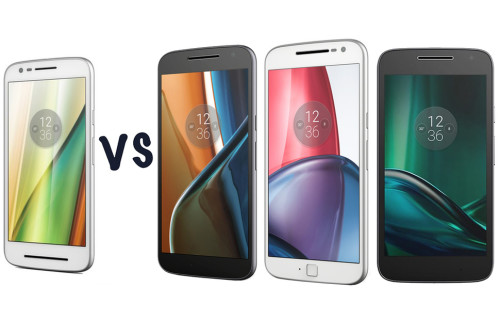 Motorola Moto E3 vs Moto G4 vs G4 Plus vs G4 Play: What's the difference?