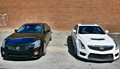 2016 Cadillac ATS-V vs. 2004 Cadillac CTS-V Showdown : Generation Gap