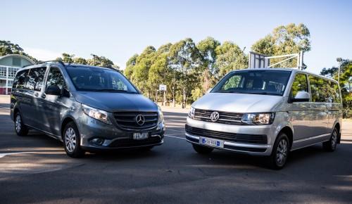 Mercedes-Benz Valente vs. Volkswagen Caravelle Comparison