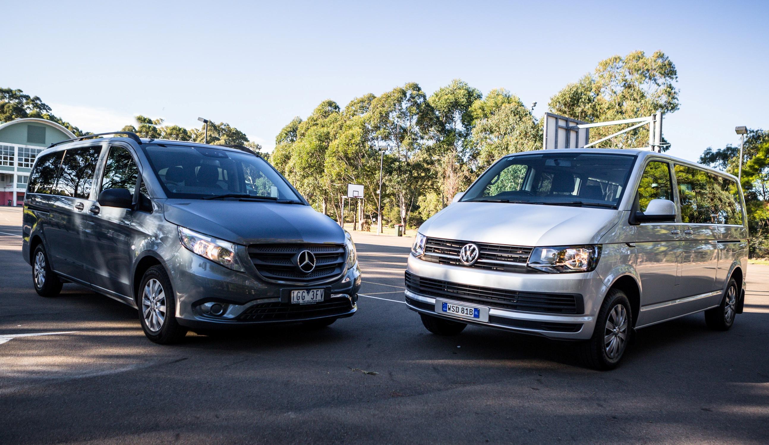 Mercedes benz valente vs volkswagen caravelle comparison for Mercedes benz volkswagen