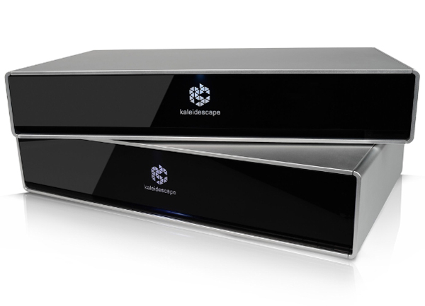 Kaleidescape Strato Movie Player is the world's first 4K Ultra HD high-dynamic-range movie player for the home. Each movie is downloaded from the Kaleidescape Movie Store and stored on a local hard drive-either on a Strato, or on a Terra Movie Server.  Strato plays back the movie in full 4K Ultra HD, at up to 60 frames per second, without the startup delays, buffering messages, or quality drops that are so common with streaming services. Strato supports lossless multichannel audio, and is capable of playing HDR content on televisions and projectors that can process open standard 10-bit HDMI(R) 2.0a HDR. (PRNewsFoto/Kaleidescape, Inc.)