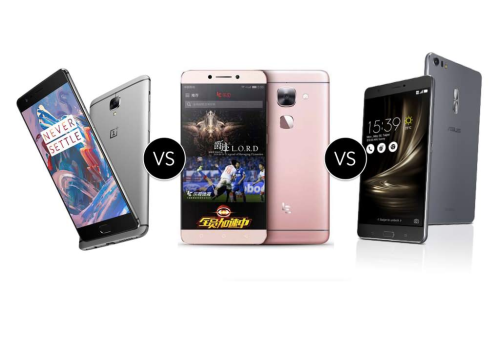 OnePlus 3 vs LeEco Le Max 2 vs ASUS ZenFone 3 Deluxe : flagship killers compared