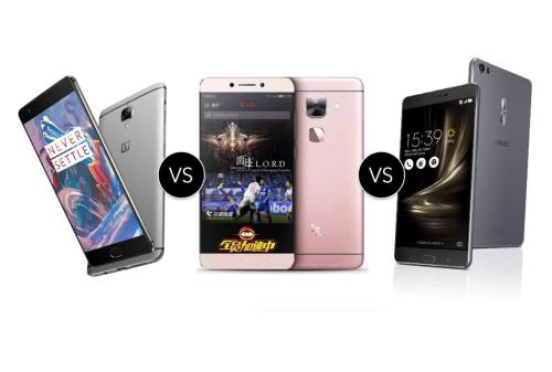OnePlus 3 vs LeEco Le Max 2 vs ASUS ZenFone 3 Deluxe : flagship killers compared
