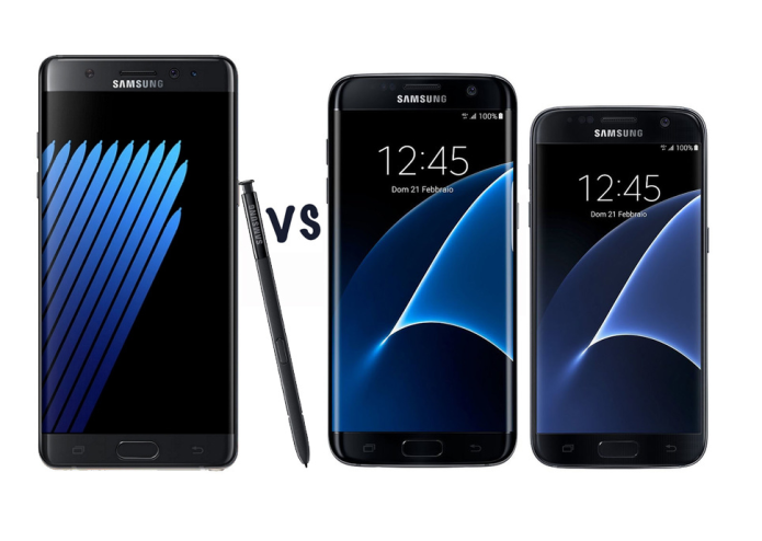 Samsung Galaxy Note 7 vs Galaxy S7 : What's the difference?