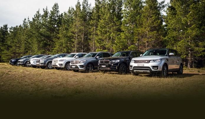 Luxury SUV Comparison : Audi Q7 v BMW X5 v Jaguar F-Pace v Lexus RX350 v Mercedes-Benz GLE v Porsche Cayenne v Range Rover Sport v Volvo XC90