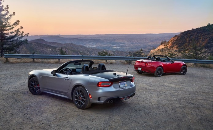 2017 Fiat 124 Spider Abarth vs. 2016 Mazda MX-5 Miata Club - Comparison Tests