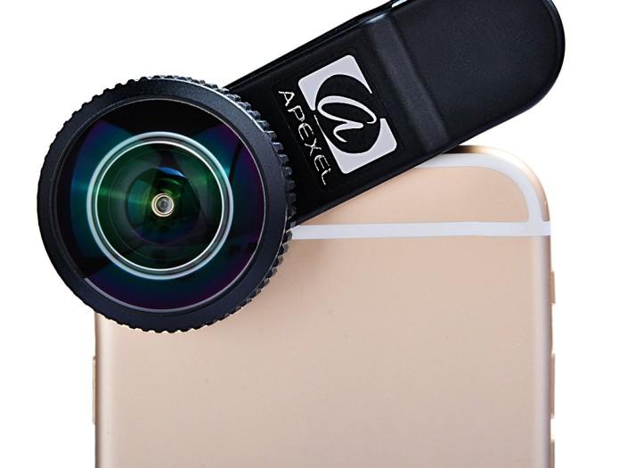 Quick review : Apexel 8mm fisheye lens for smartphones