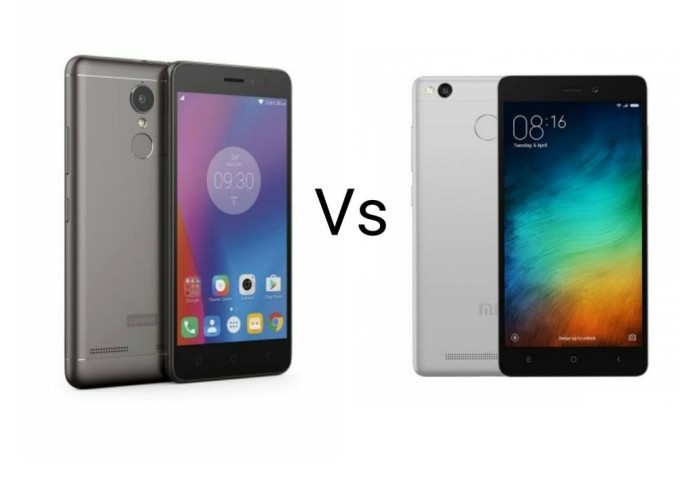 Lenovo K6 Power Vs Xiaomi Redmi 3s Prime Comparison