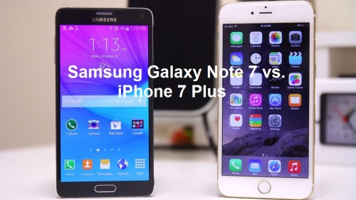 Samsung Galaxy Note 7 vs iPhone 7 Plus: What's the difference?