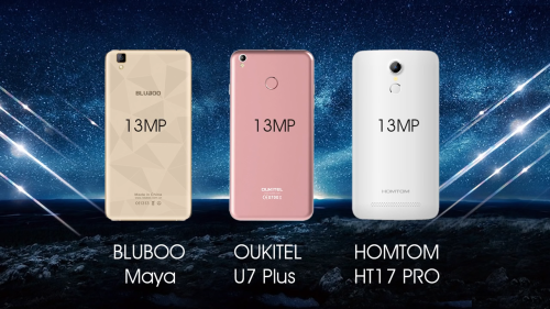 OUKITEL U7 Plus vs Bluboo Maya vs HOMTOM HT17 pro Camera Comparison