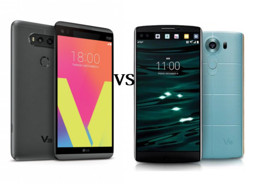 Specs Comparison : LG V20 vs LG V10