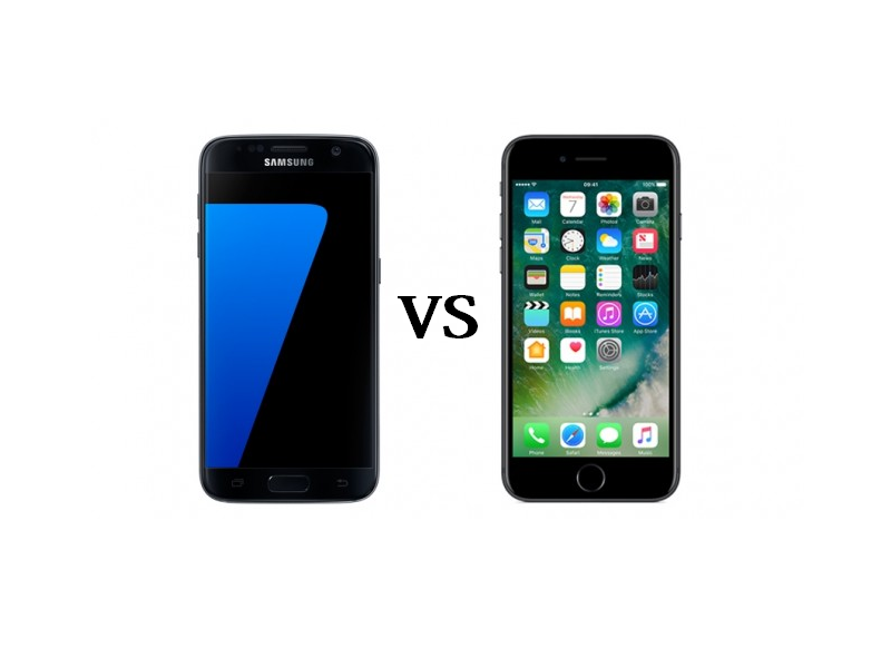 iPhone 7 vs Samsung Galaxy S7 : We compare the specs, features and cameras of