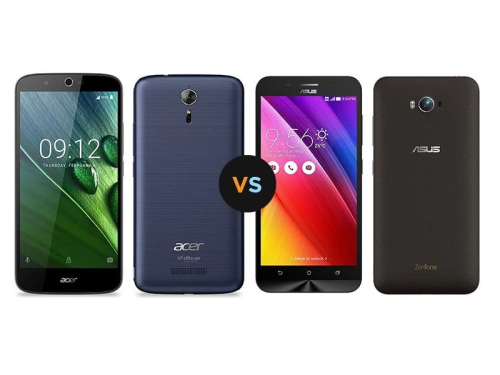 Specs Comparison : Acer Liquid Zest Plus VS ASUS Zenfone Max