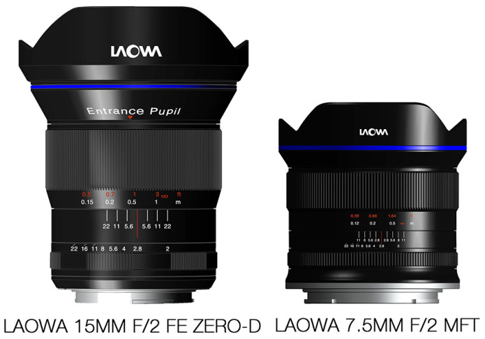 Venus Optics announces Laowa 7.5mm F2 for MFT and 15mm F2 FE Zero-D