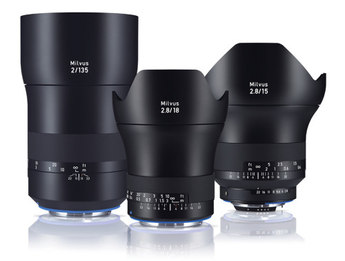 Zeiss launches three new Milvus manual-focus primes