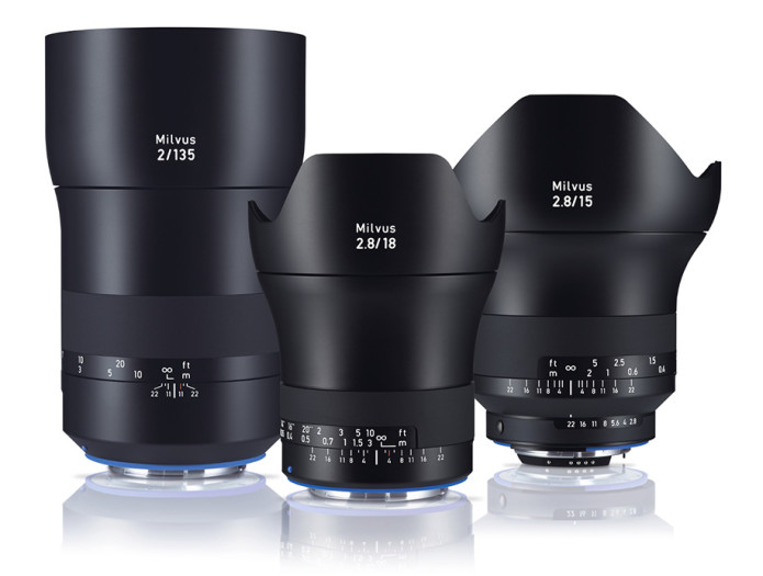 Zeiss launches three new Milvus manual-focus primes