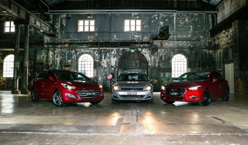 Comparison : Hyundai i30 SR Premium v Mazda 3 SP25 Astina v Volkswagen Golf 110TSI Highline