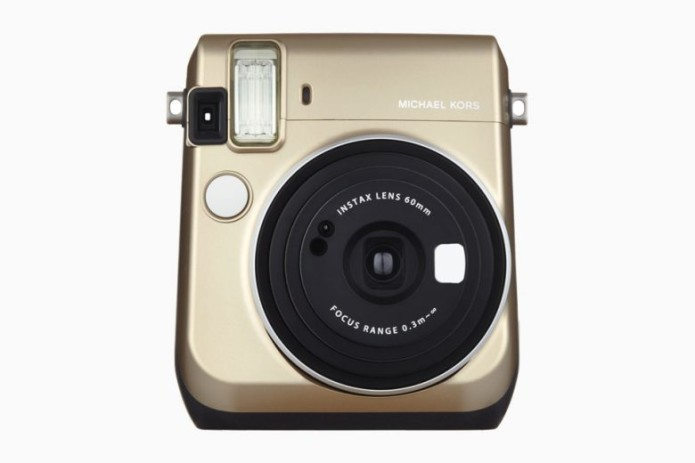 High fashion meets the lo-fi (but super-popular!) Fuji instant camera world with the Michael Kors Mini 70