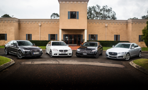 Luxury sedan comparison part two : Audi A6 v BMW 5 Series v Jaguar XF v Mercedes-Benz E-Class