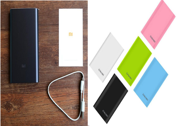 Xiaomi Mi Powerbank 2 10000mAh vs Chuwi Hi-power 10050mAh Powerbank Comparison