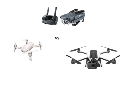 Preview of DJI Mavic Pro vs GoPro Karma vs Yuneec Breeze