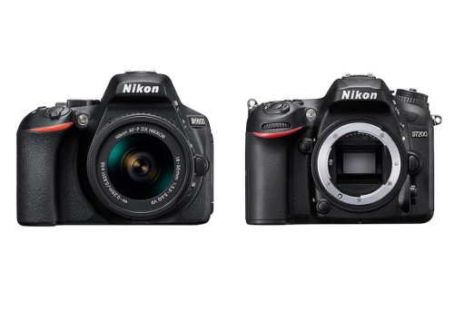 Nikon D5600 vs Nikon D7200 Specifications Comparison