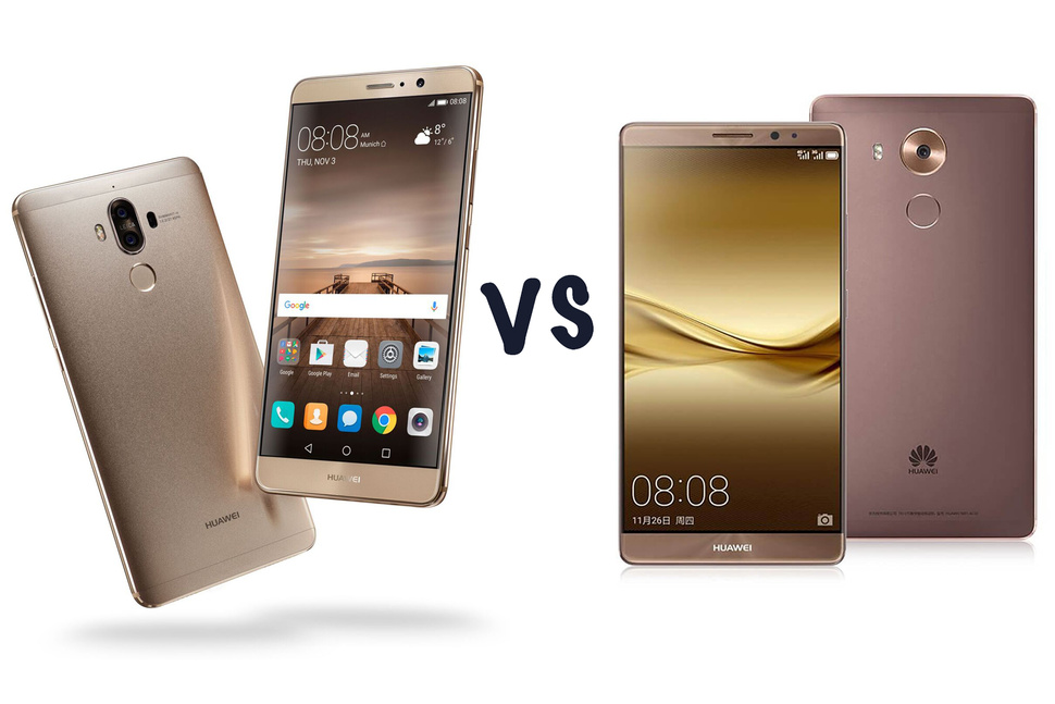 Huawei Mate 8 vs Huawei Mate 9: What's the difference ...