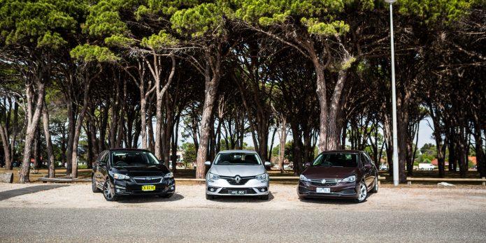 Holden Astra v Renault Megane v Subaru Impreza - Small hatchback comparison