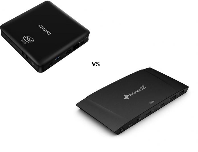 CHUWI HiBox VS Meegopad T09 Mini PC Comparisons Review