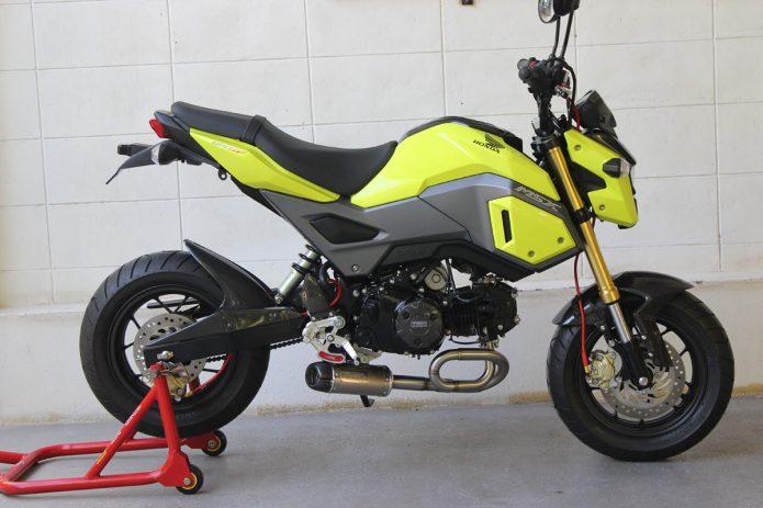 Honda Grom Exhaust Ler Tyga Short Low Mount