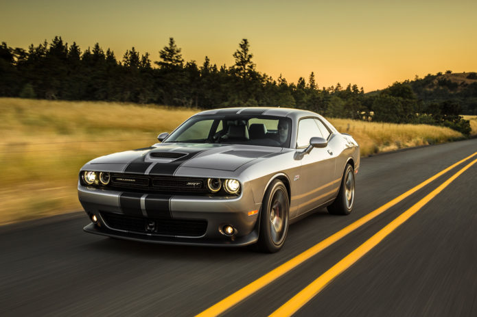 2017-Dodge-Challenger-SRT-392-front-three-quarter-in-motion-02