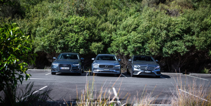 Luxury diesel sedan comparison : Audi A6 v Mercedes-Benz E220d v Volvo S90