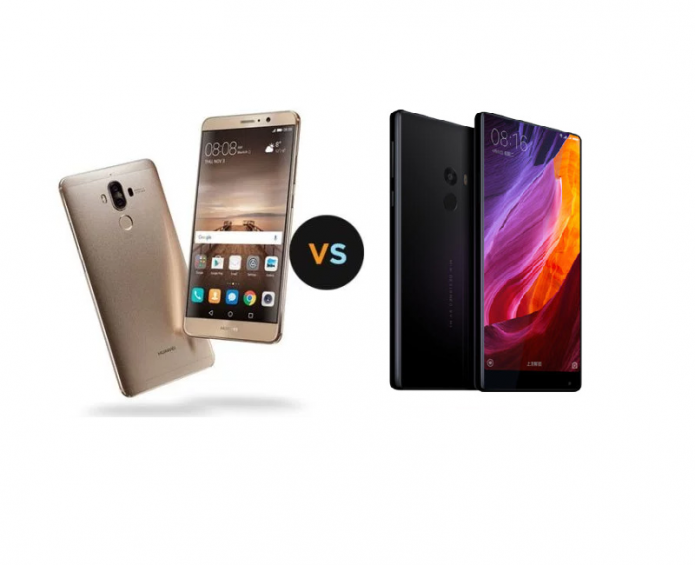 Xiaomi MI MIX VS Huawei Mate 9 Comparisons Review