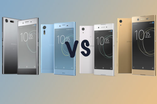Sony Xperia 2017 smartphone differences: XZ Premium vs XZs vs XA1 vs XA1 Ultra