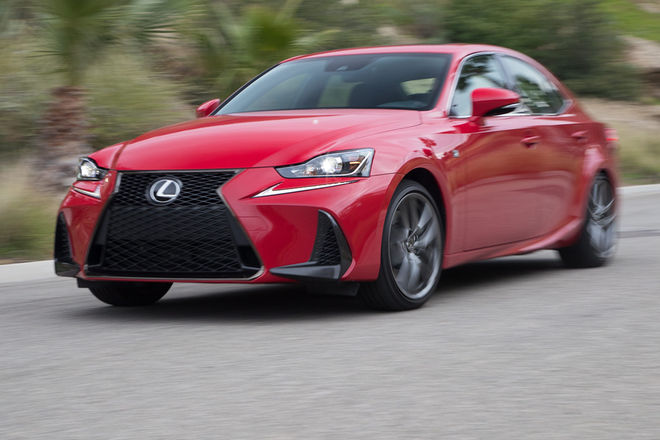 2017-Lexus-IS-200t-front-three-quarter-in-motion-e1489014427459
