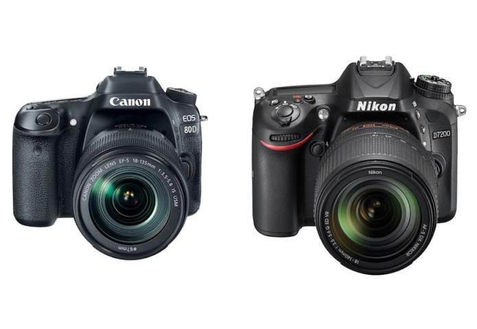 Canon 80D vs Nikon D7200 Comparison