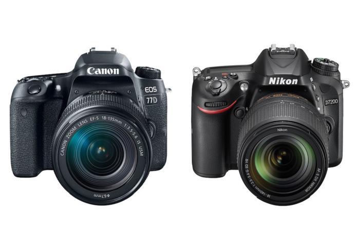 Canon 77D vs Nikon D7200 Comparison