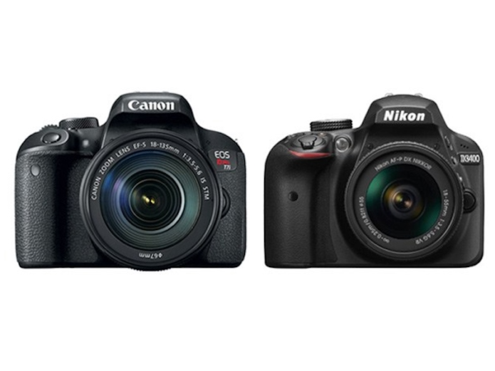 Canon T7i vs Nikon D3400 Comparison