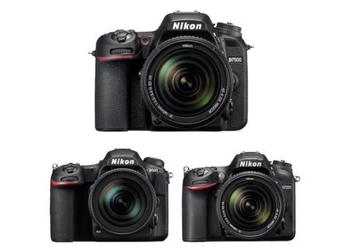 Nikon D7500 vs D500 vs D7200 Comparison