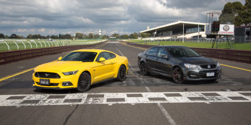 Ford Mustang GT Fastback v Holden Commodore SS V Redline comparison: Track Test