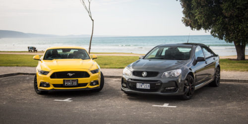 Ford Mustang GT Fastback v Holden Commodore SS V Redline comparison: Road Test