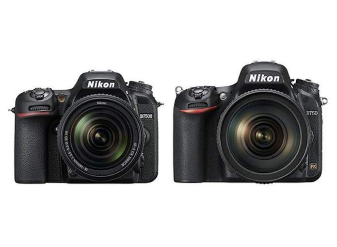 Nikon D7500 vs D750 Comparison