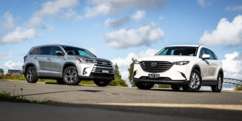 2017 Toyota Kluger GX FWD v Mazda CX-9 Sport FWD Comparison
