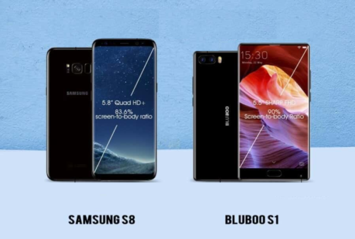 Comparison: Bezel-less BLUBOO S1 Vs the Bezel-less Samsung S8 ($150 vs $700+)