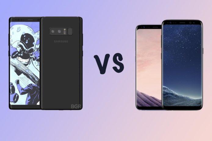 141713 Phones Vs Samsung Galaxy Note 8