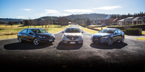 Renault Megane Intens vs Mazda 3 SP25 GT vs Holden Astra LTZ comparison